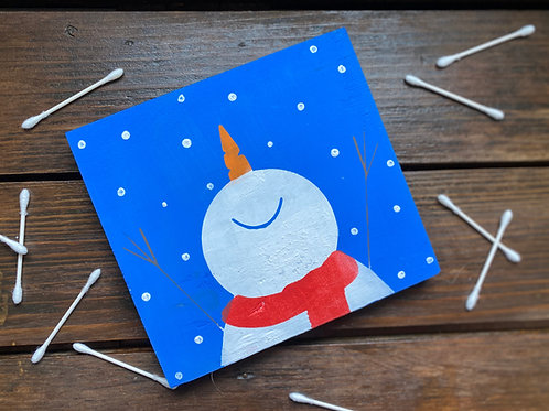 Happy Snowman Q-Tip Project