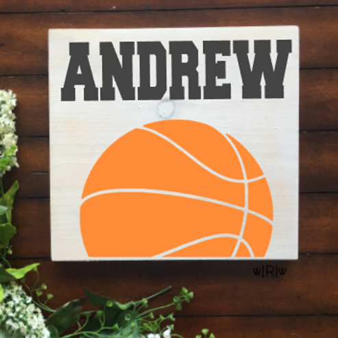Basketball Kid's Name 10x10