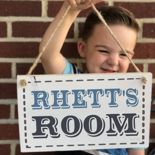 Kids Room Sign - Boy 8x12