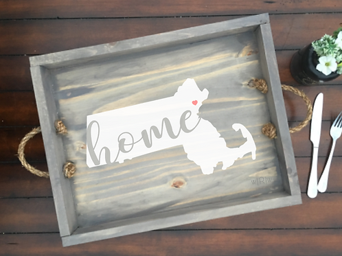 Home State Tray w/Rope Handles