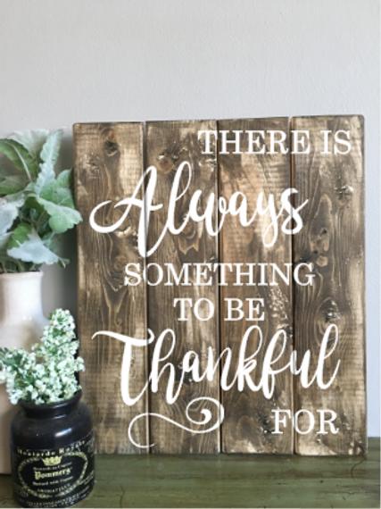 Always Thankful 16x14