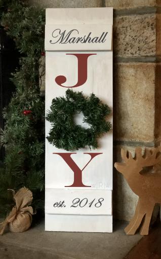 Holiday Joy Personalized Mini Shutter.PN