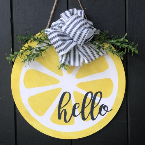 Lemon/Watermelon Door Hanger Virtual Workshop 6/13 7PM