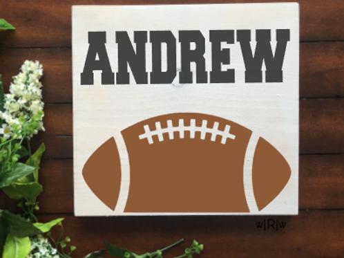 Football Kid's Name 10x10