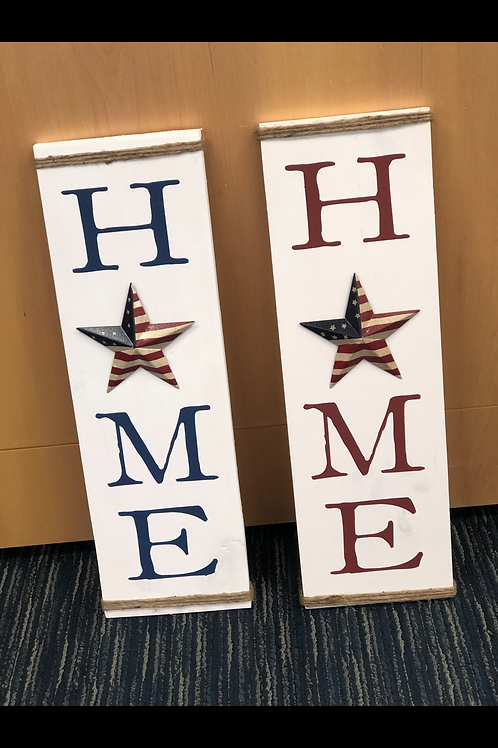 Home Sign w/ Patriotic Star