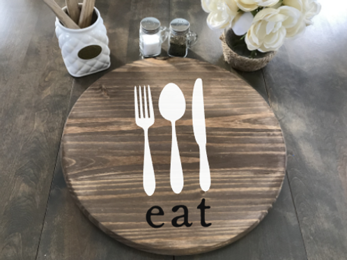 "Eat Lazy Susan 18"" Round"