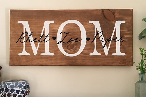 Mother/ Grandmother Sign w/ Names 10x20 FINISHED PRODUCT