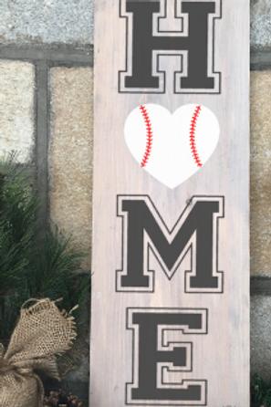 Home Baseball 8x20