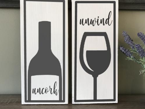 Uncork & Unwind 2 boards 8x20