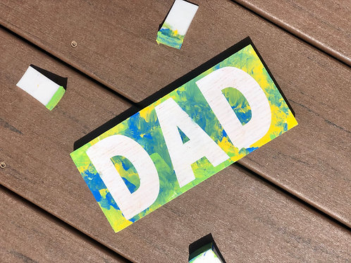 Father's Day Tie-Dye Paint and Peel