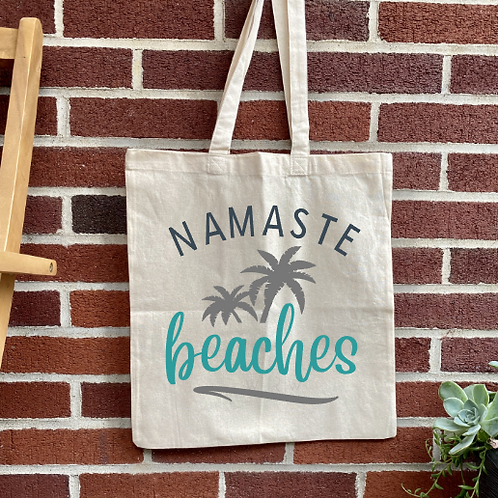 Namaste Beaches DIY Canvas Bag