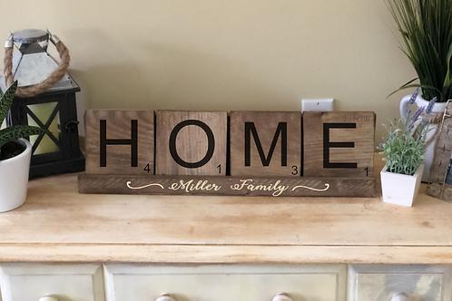 Home Word Tile w/ Holder