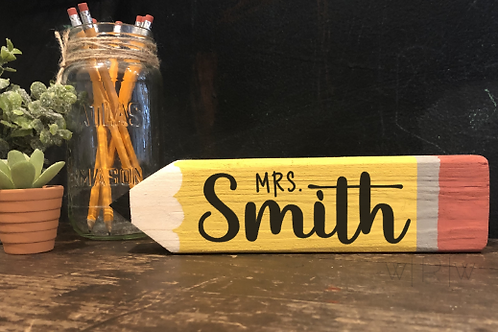 Personalized Pencil Desk Sitter