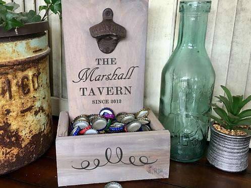 Tavern Bottle Opener w/ Catcher