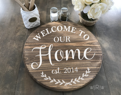 Welcome To Home Lazy Susan Demo Vector