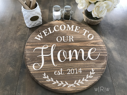 "Welcome to Our Home Lazy Susan 18"" Round"