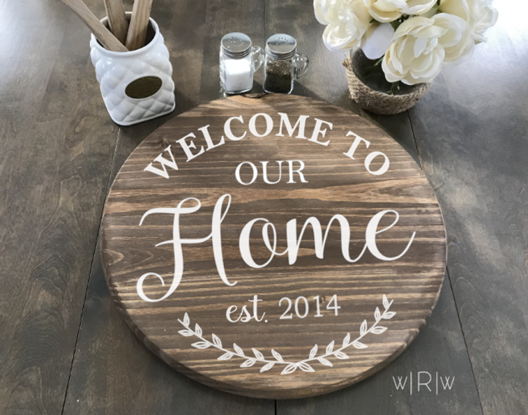 Welcome To Home Lazy Susan Demo Vector.P