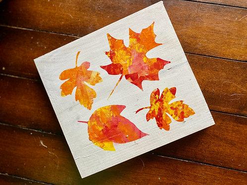 Paint & Peel Fall Leaf Collage