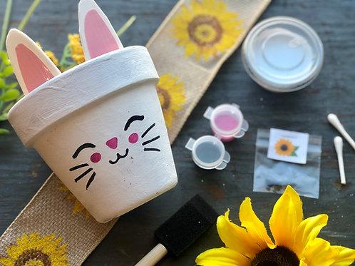 Bunny Planter w/ Sunflower Seeds