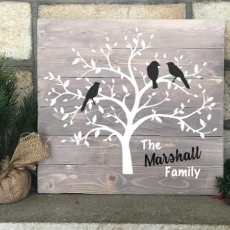 Family Tree w/ Birds 14x16