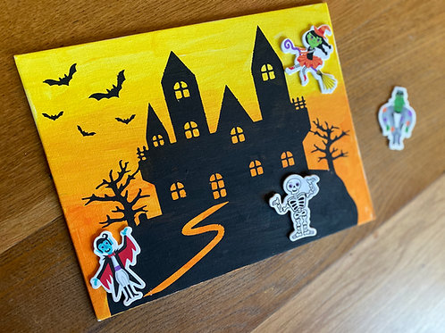 Haunted House Canvas Kit