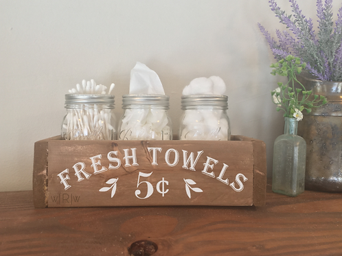 Fresh Towels Bathroom Box