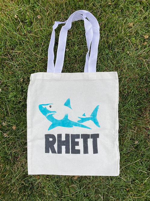 Shark Name DIY Canvas Bag