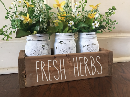 Fresh Herbs Flower Box