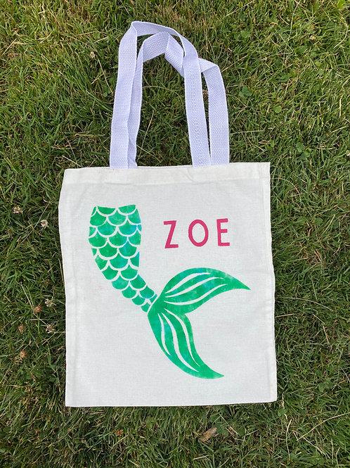 Mermaid Tale Name DIY Canvas Bag