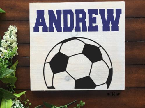 Soccer Kid's Name 10x10