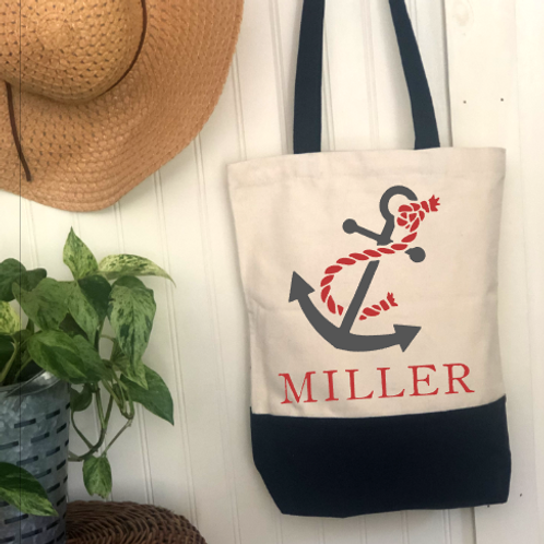 Anchor Name DIY Canvas Bag
