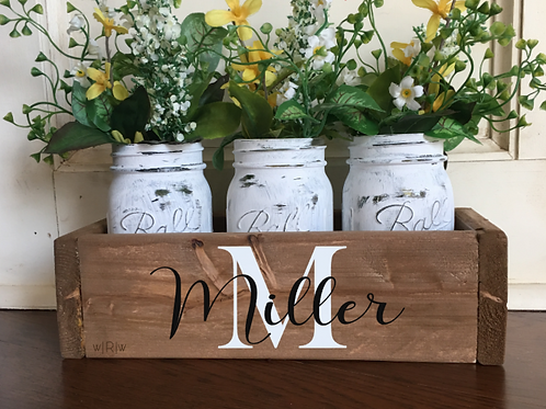 Traditional Last Name Flower Box