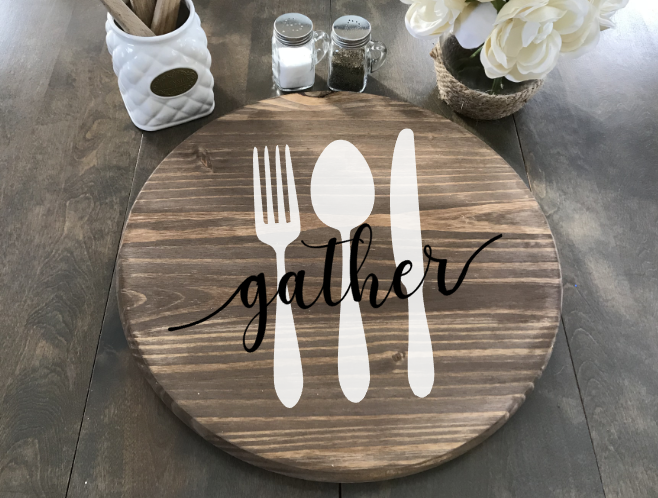 Lazy Susan Gather Utensil Plain