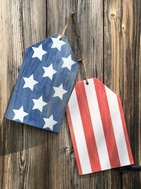 Patriotic Door Tags DIY Kit