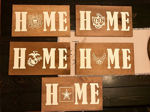 Home Military Sign 10x20