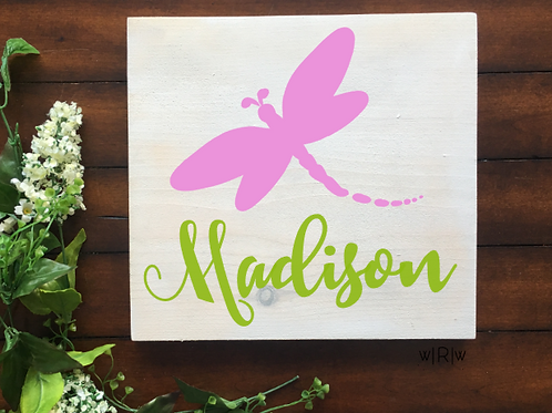Dragonfly Kid's Name 10x10