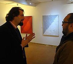 Stefano Mariotti insieme al critico e Prof. d'arte Siro Perin