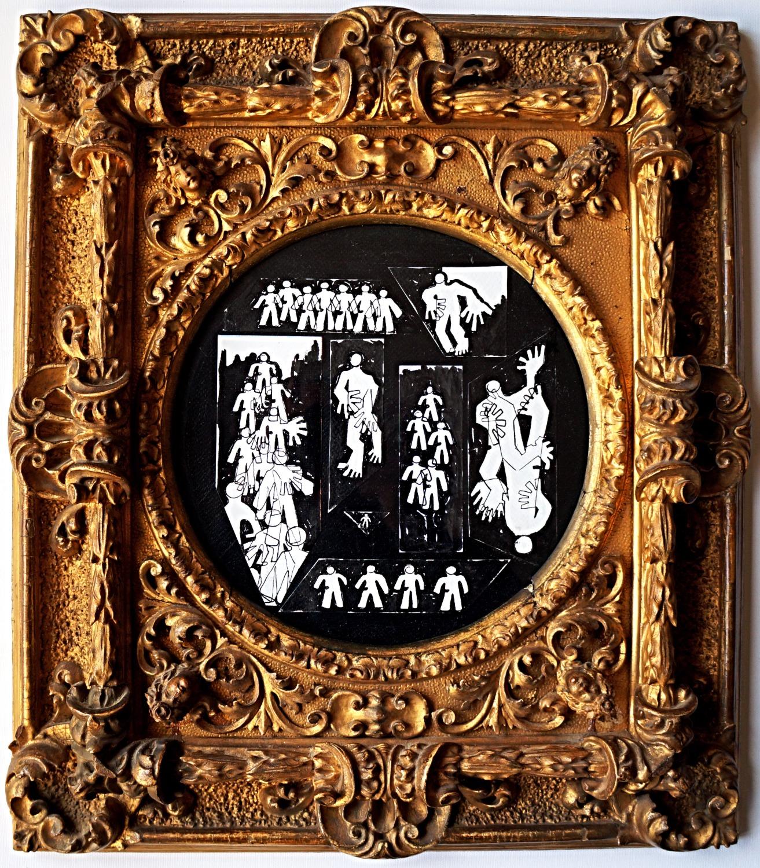 Antipop e cornice barocca