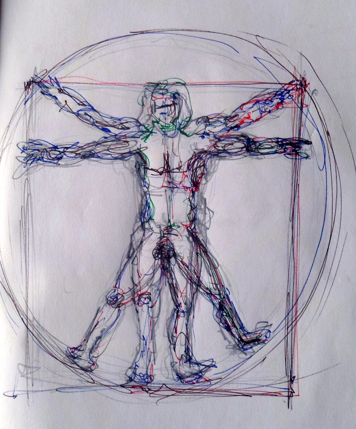 Schizzo per studio Uomo Vitruviano