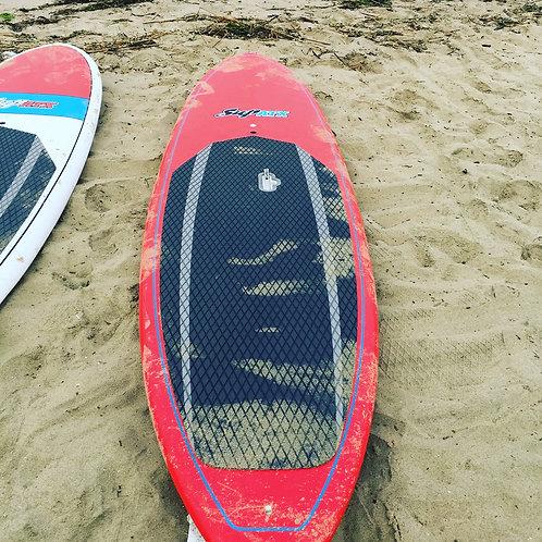 USED 10'6 Red SUP ATX  Scout fiberglass paddle board w. PADDLE