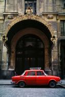 Small car & big gate