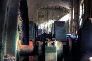 Generators at old electric plant