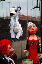 ...How did they teach you to be just a happy puppet dancing on a string?...  From the song You Happy Puppet by 10000 Maniacs  Photo by Fringer Cat / Nitty-Gritty Photo