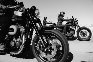 ...'Cause tramps like us, baby, we were born to run, yes, girl, we were...  From the song Born To Run by Bruce Springsteen  Photo by Harley Davidson / Unsplash