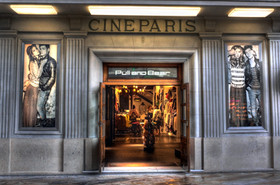 Formerly a cinema, now a clothing store