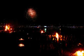Solstice fireworks