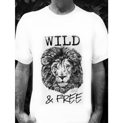 Men's Wild & Free T-Shirt Benefiting Born Free USA!