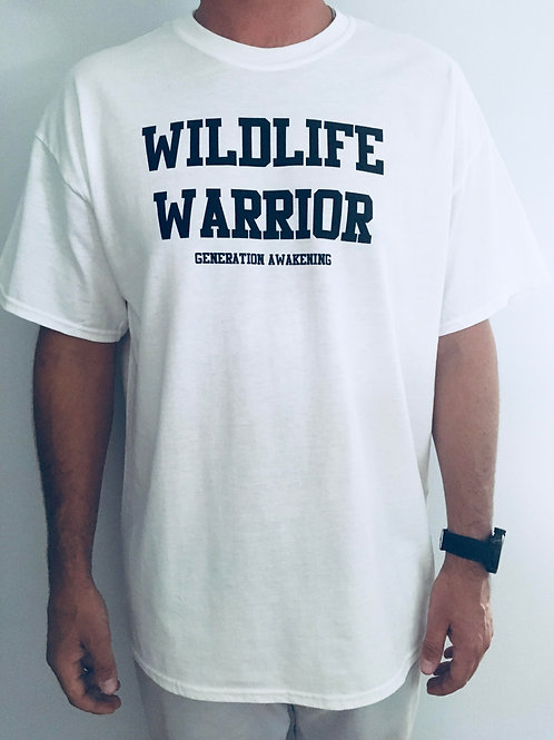 Mens Wildlife Warrior Tee - White