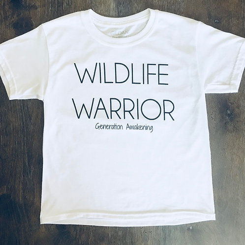 Kids Wildlife Warrior Tee - White