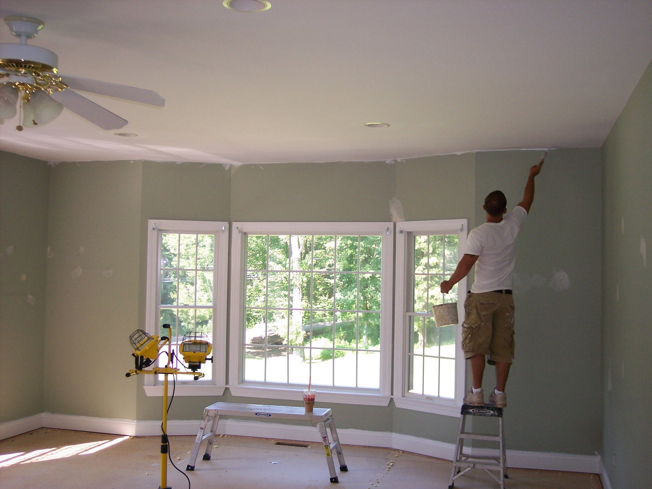 Interior Painting Living Room Prep